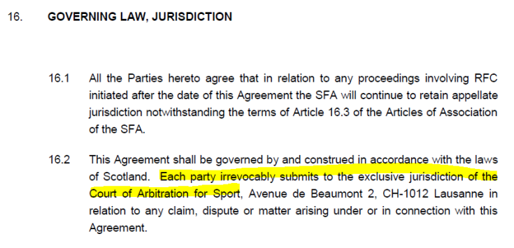 CAS jurisdiction